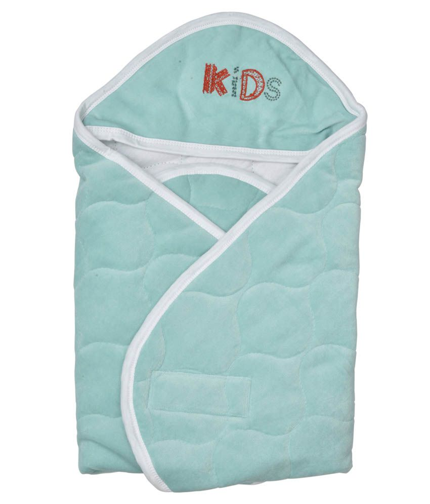 Becker Quick Dry Baby Wrapper Hooded Seagreen