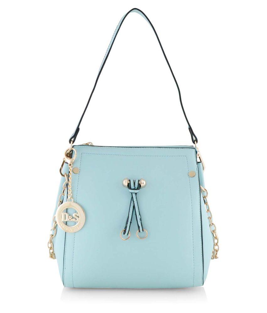 Dolse & Stela Turquoise P.u. Shoulder Bag