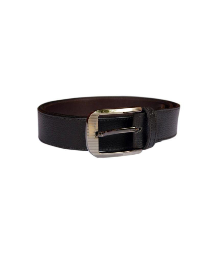 Daller Black Causal Belt for Men