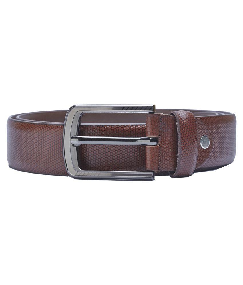 Sondagar Arts Brown Leather Belt For Men