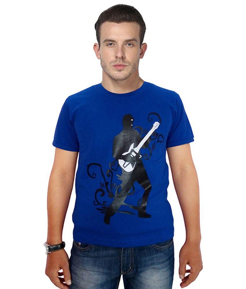 Wankies Blue Round Neck T Shirt