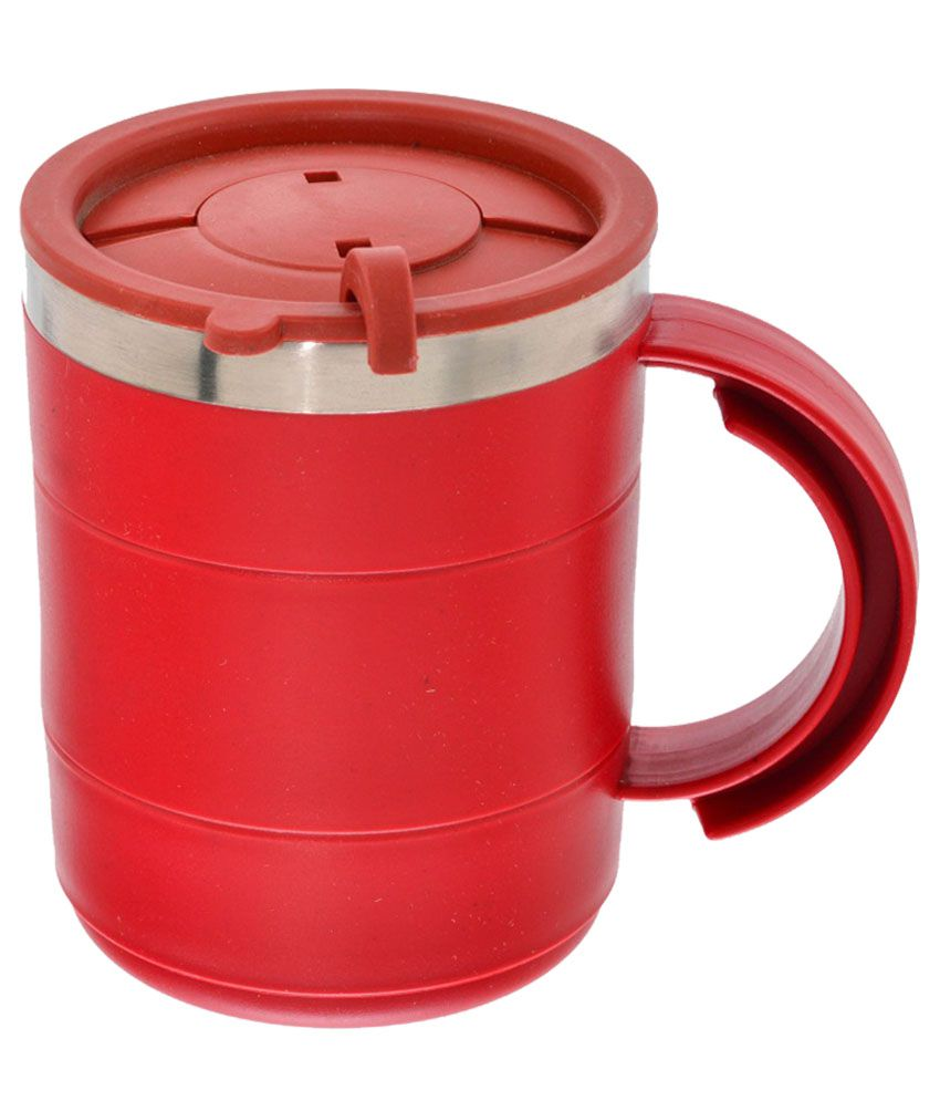 Kaos Stainless Steel 300 Ml Coffee Mug With Lid