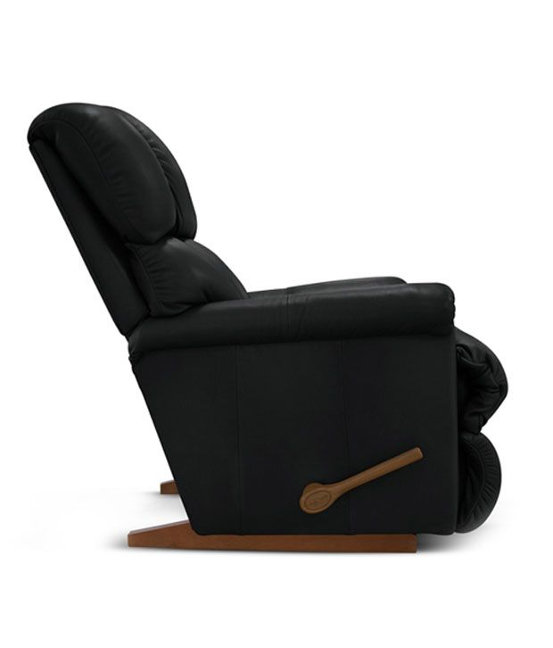lazboy recliner with black rexine cover pinnacle buy lazboy