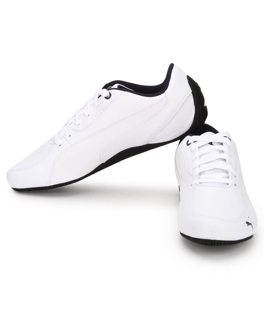 Puma Drift Cat 5 White Lifestyle Casual Shoes - Buy Puma Drift Cat 5 ... 7f04b3b80