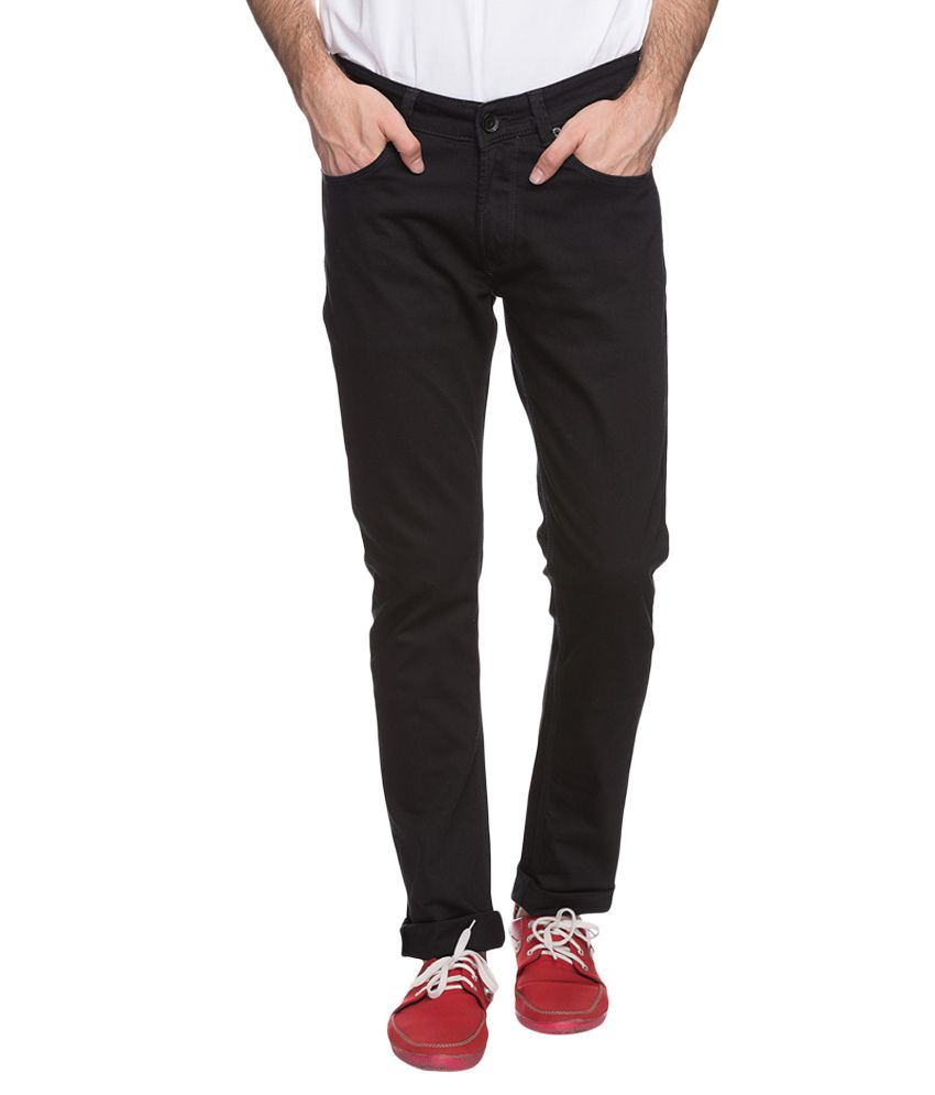 Spykar Black Slim Fit Jeans