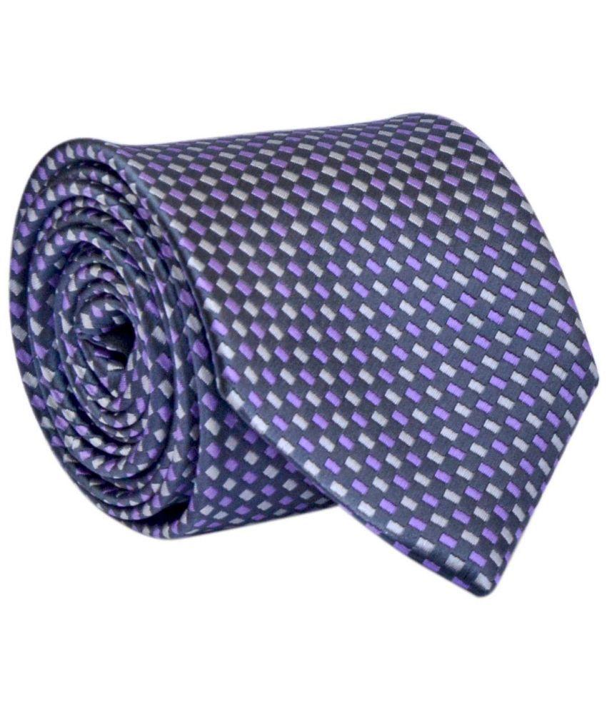 Bizarro.in Purple Micro Fiber Formal Necktie