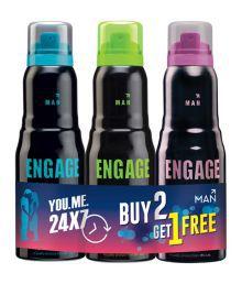 Engage Men Combo Deo Buy 2 Get 1 Free (mate+jump+intesity)