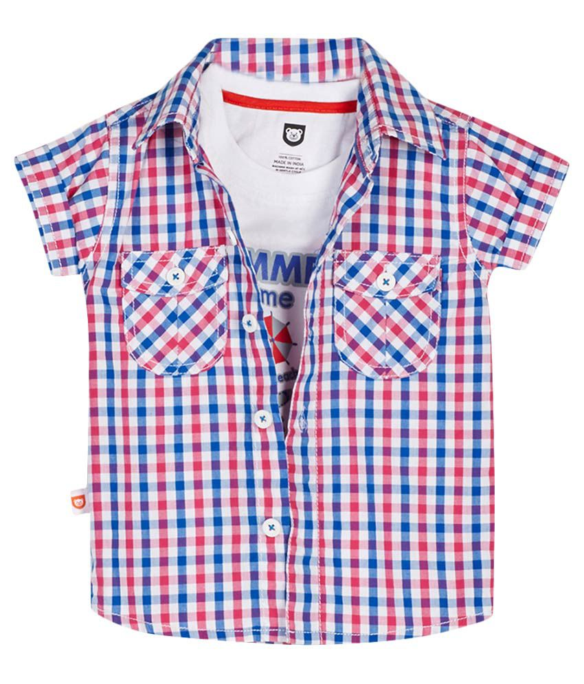 612 League White T-Shirt With Checked Shirt