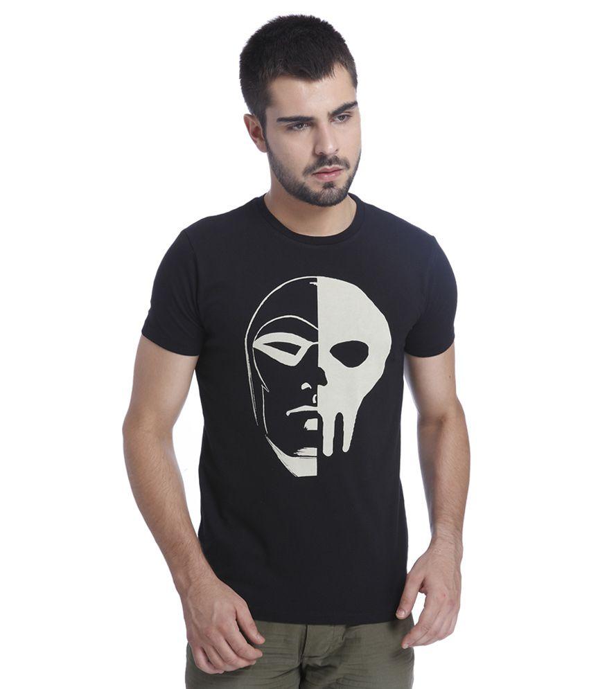 Jack & Jones Black Printed T-Shirt