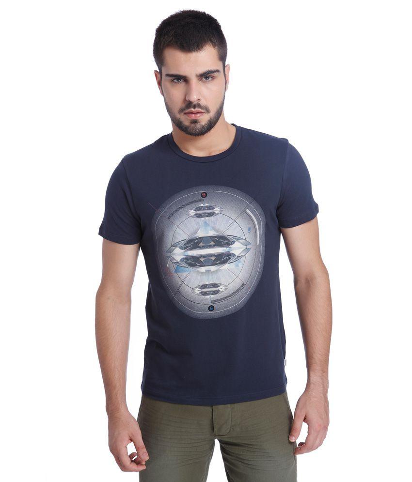 Jack & Jones Navy Printed T-Shirt