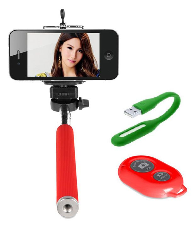 Iceberg Makers.In Iceberg Makers.in Selfie Stick With Bluetooth Remote For Smart Clicks Apple Iphone/samsung/android with USB LED