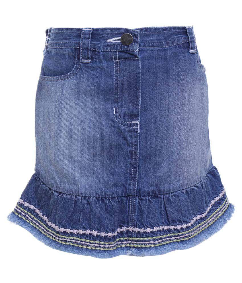 UFO Blue Skirt