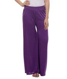 Teemoods Purple Cotton Palazzos