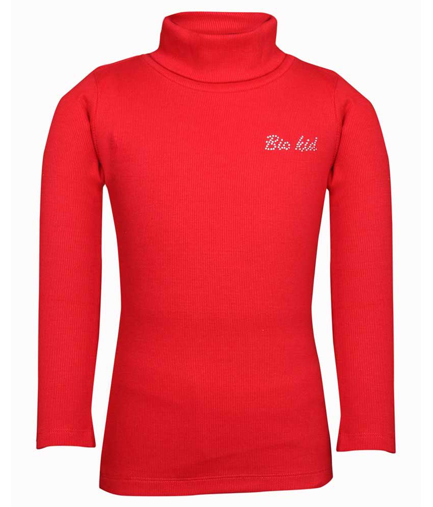 Bio Kid Girls High Neck Full Sleeve Sweatshirt