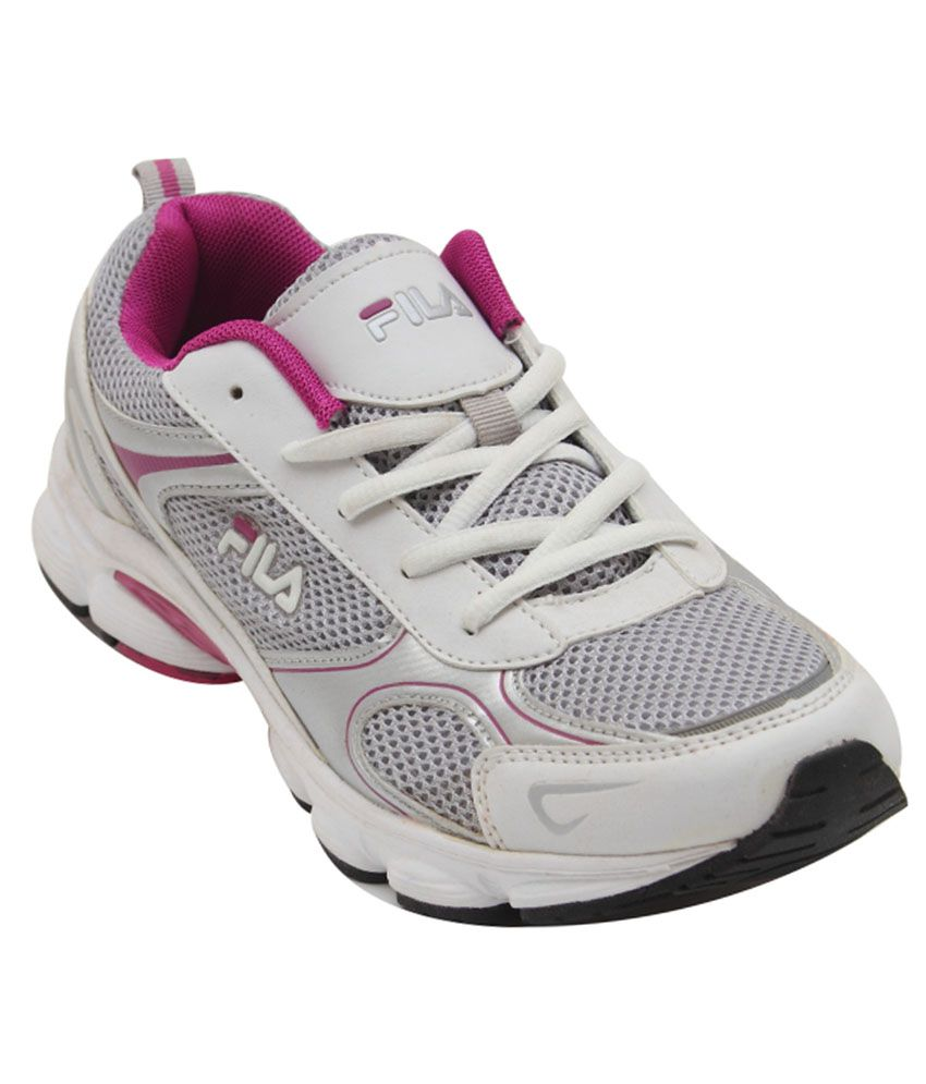 Fila White Running Shoes  available at snapdeal for Rs.900
