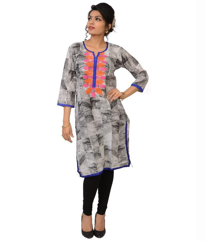 ce4e1ab0c8 Lady Buzzz Multi Color Straight Cotton Kurti available at SnapDeal for Rs .617