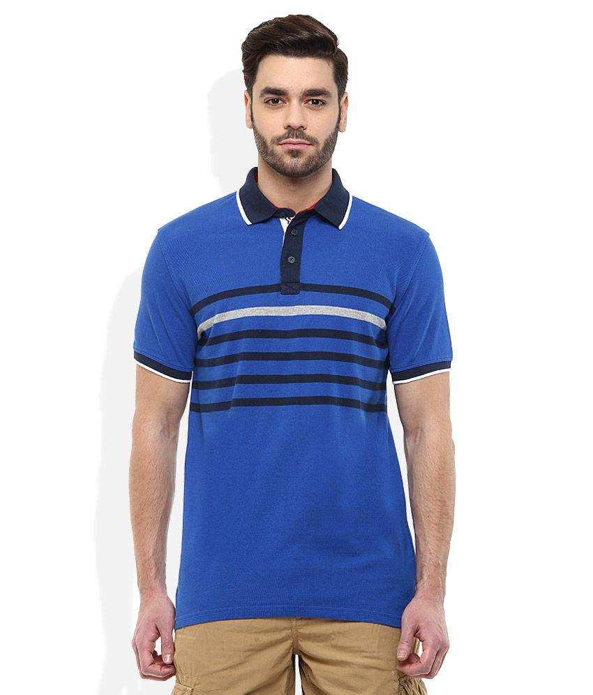 Celio Blue Polo Neck T-Shirt
