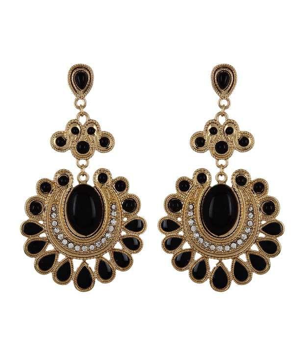 Fayon Beautiful Black Drop Earrings