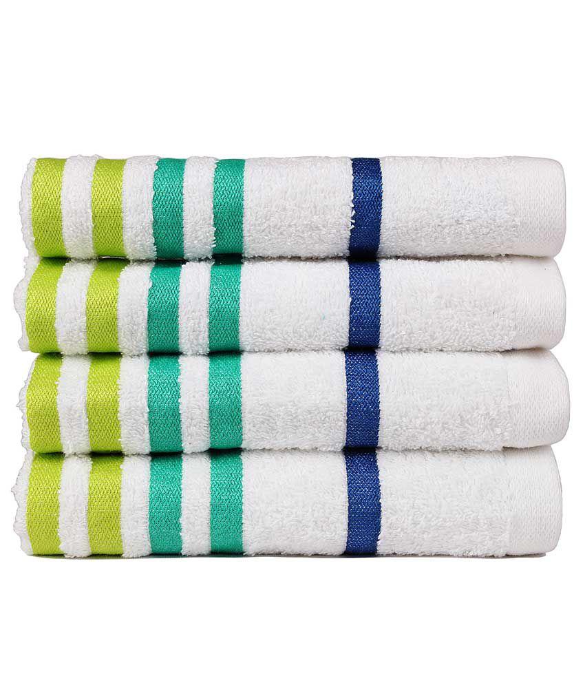 Casa copenhagen set of 4 cotton hand towel white buy casa copenhagen set of 4 cotton hand - Casa copenaghen ...