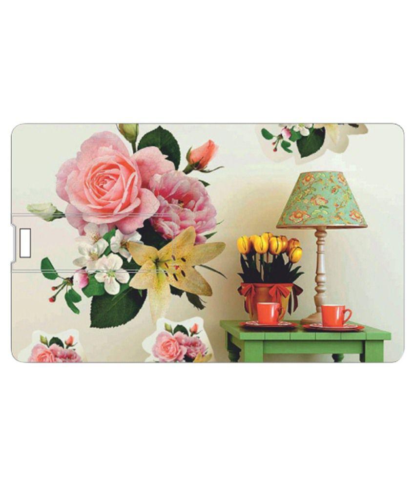 Via Flowers 8 Gb Pen Drives Multicolor