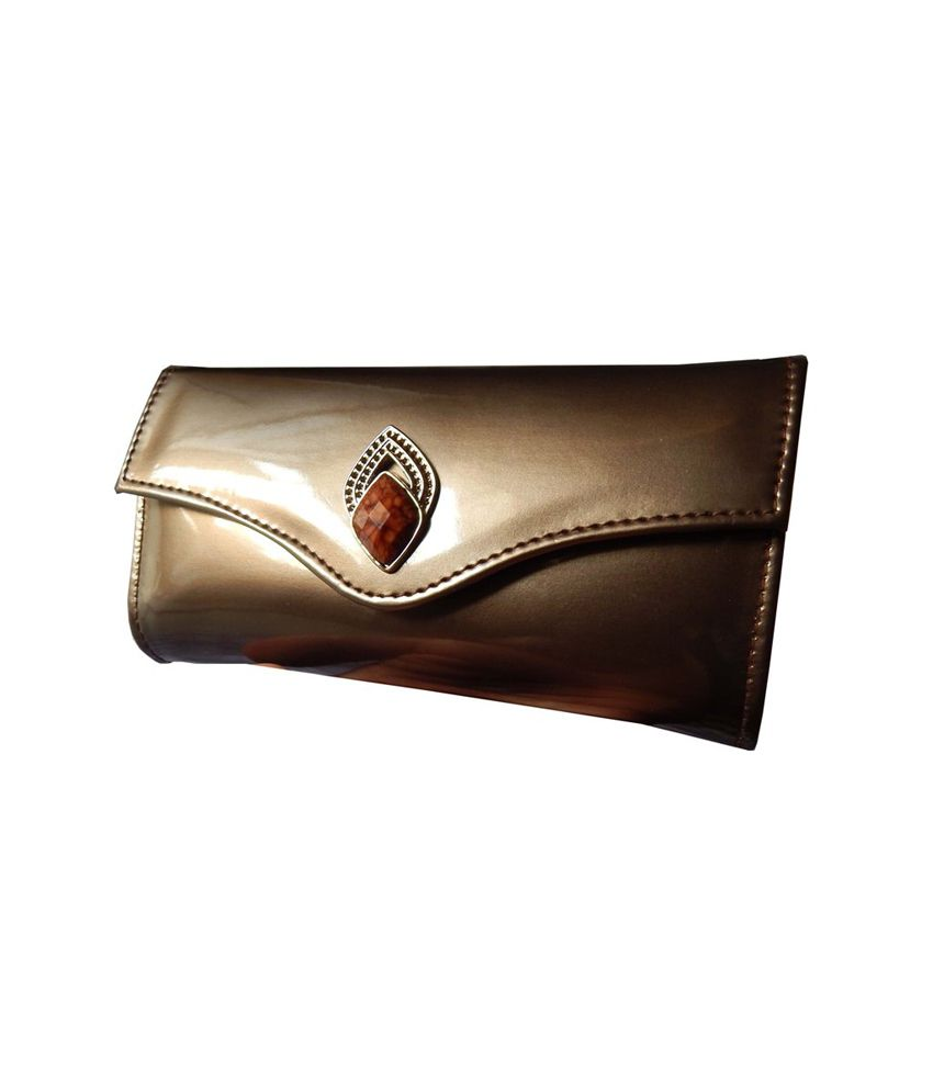Navaksha Brown Designer Non Leather Regular Wallet