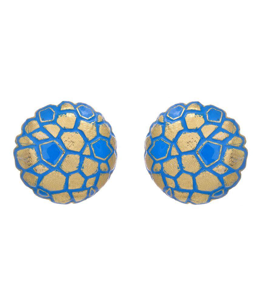 Jfl - Jewellery For Less Blue Bridal Stud Earrings