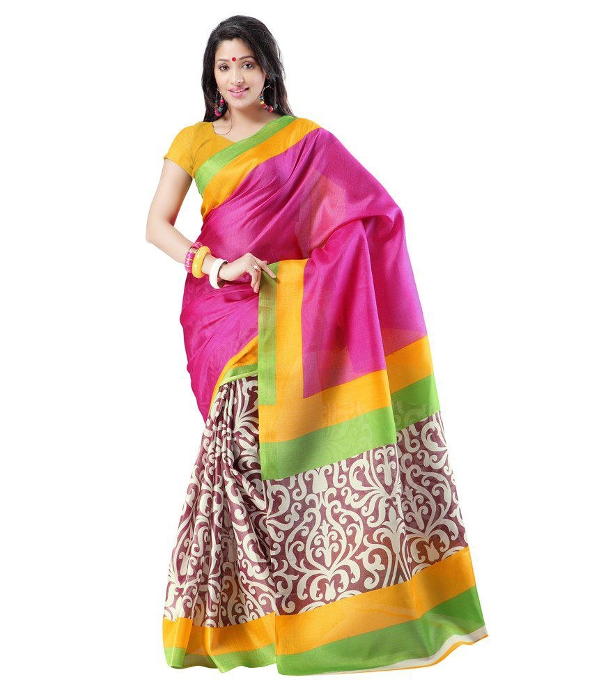 Ishaani Multicoloured Mysore Silk Saree