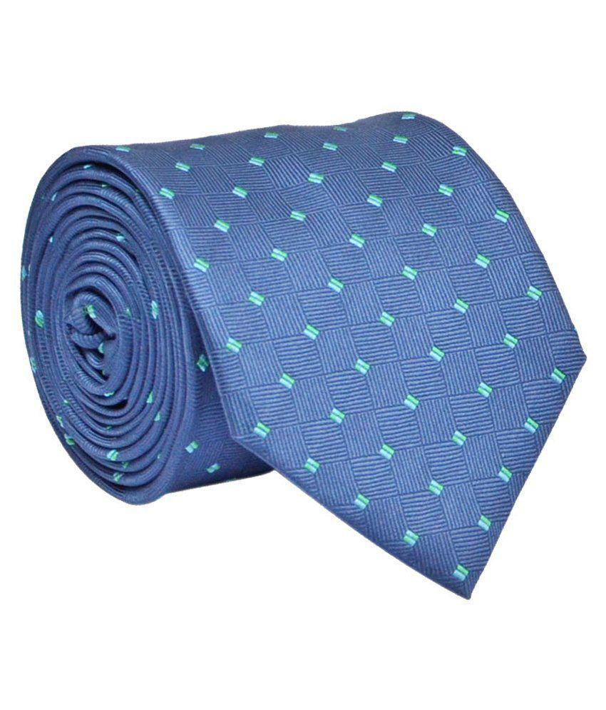Calvadoss Blue Micro Fiber Broad Tie