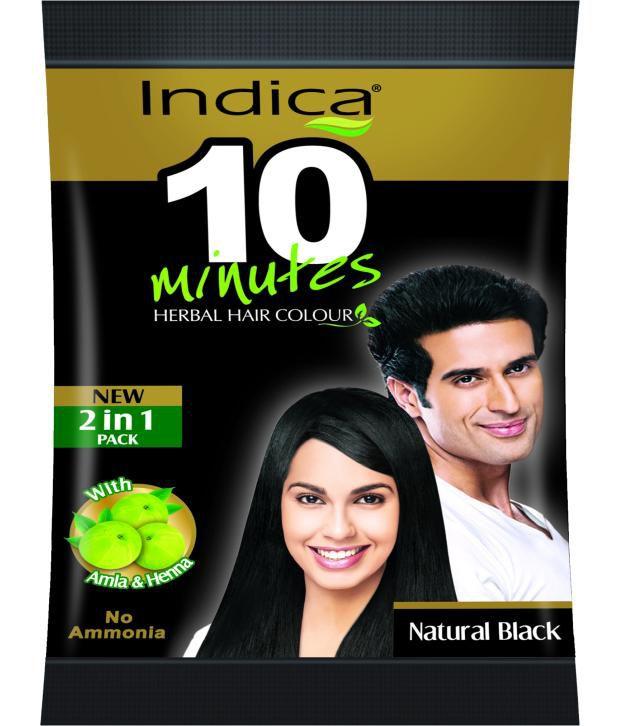 840c6918470e9 Indica Natural Black 10 Minutes Herbal Hair Colour 2 in 1 Pack: Buy Indica  Natural Black 10 Minutes Herbal Hair Colour 2 in 1 Pack at Best Prices in  India - ...