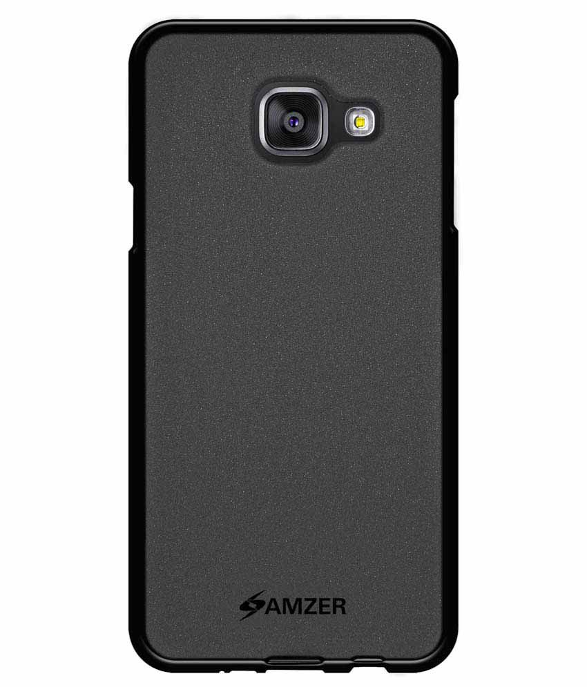 amzer back cover for samsung galaxy a3 2016 sm a310f black plain back covers online at low. Black Bedroom Furniture Sets. Home Design Ideas