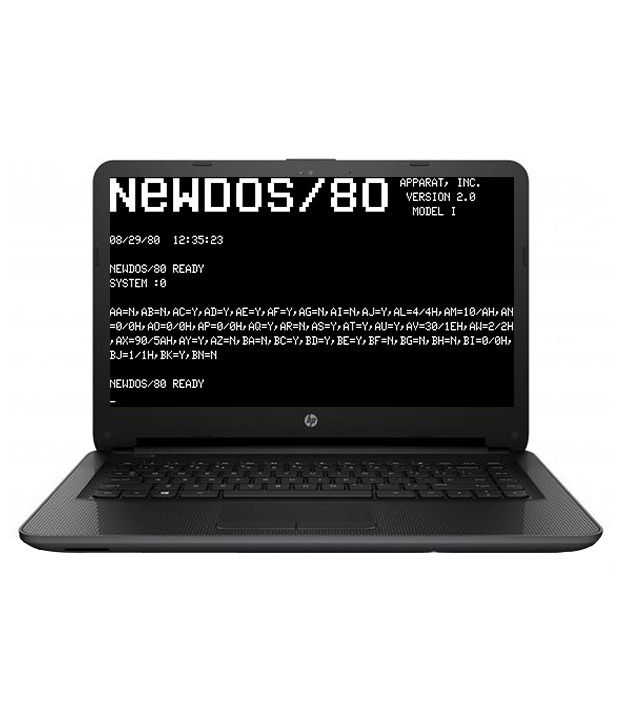 Hp 240 G4 Notebook Intel Pentium 4 Gb 500 Gb 35.56cm(14) Dos 1 Gb Black