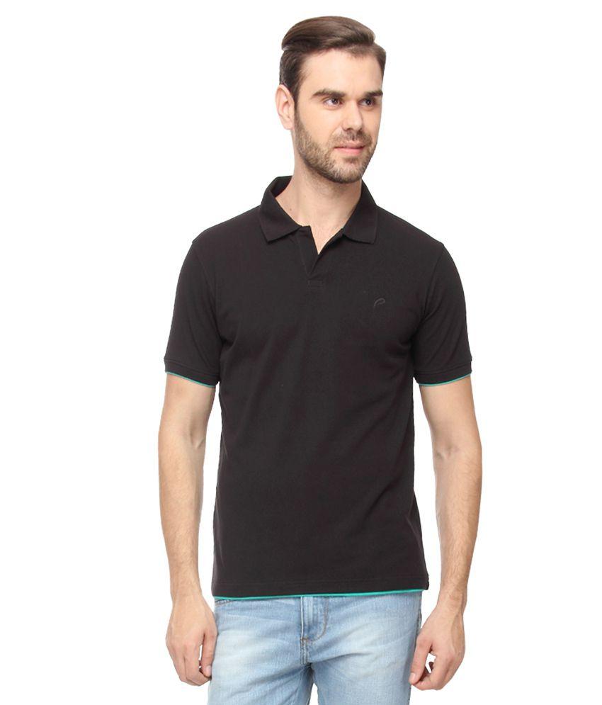 Proline Black Half Sleeves Polo T-Shirt