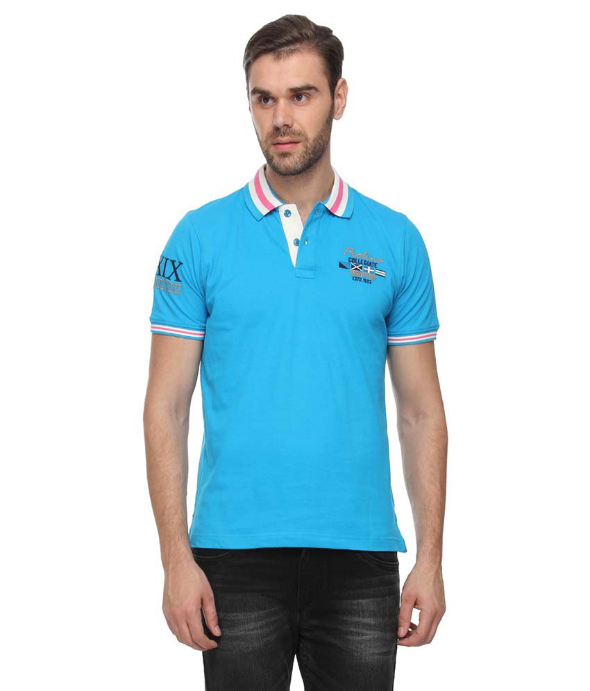 Proline Blue Half Sleeves Polo T-Shirt