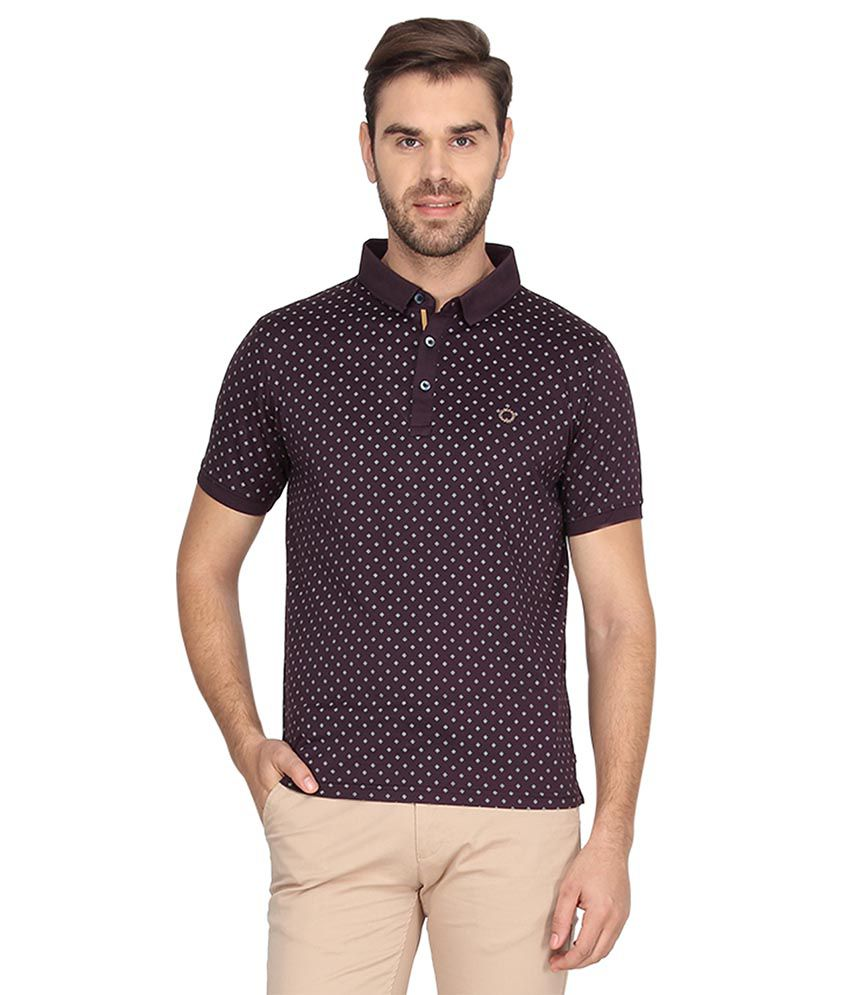 Proline Brown Half Sleeves Polo T-Shirt