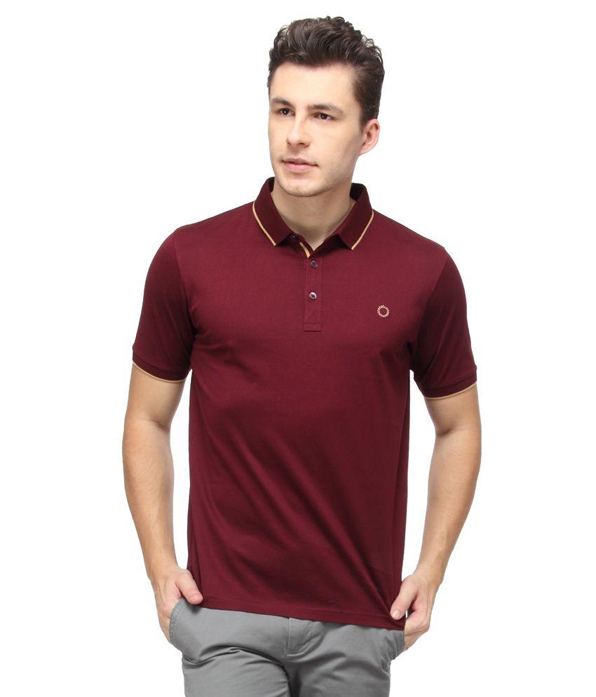 Proline Maroon Half Sleeves Polo T-Shirt