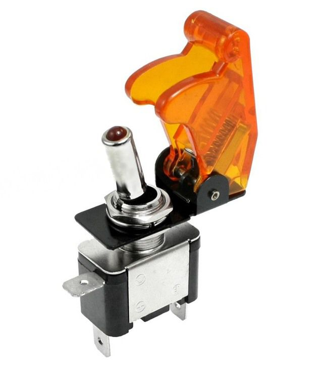 Modaxe Imported Toggle Switches With Aircraft Safety Cover And Led Lights  For All Vechiles