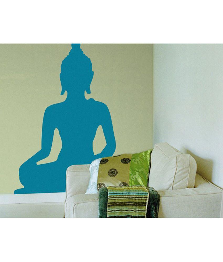 Stickerskart Blue Vinyl Pooja Room Living Area Peaceful