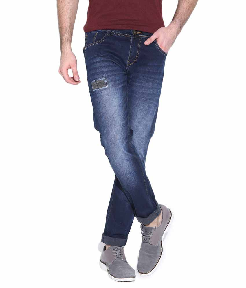 Rodamo Blue Slim Fit Jeans