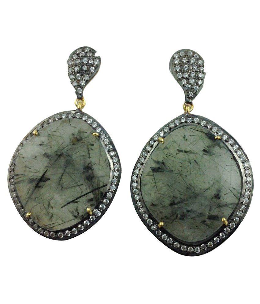 Gemswelry 92.5 Sterling Silver Drop Earrings