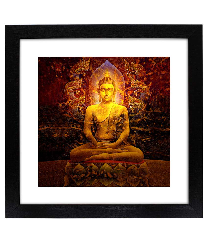 Delight Wooden Buddha Painting
