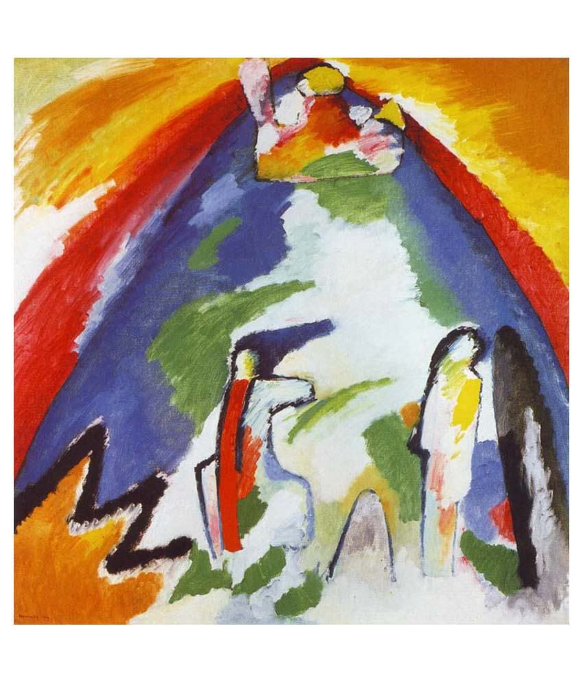 Tallenge A Mountain By Wassily Kandinsky Gallery Wrap Canvas Art Print