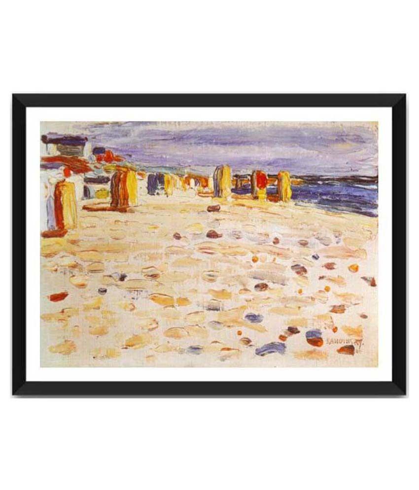 Tallenge Beach Baskets In Holland By Wassily Kandinsky Framed Art Print