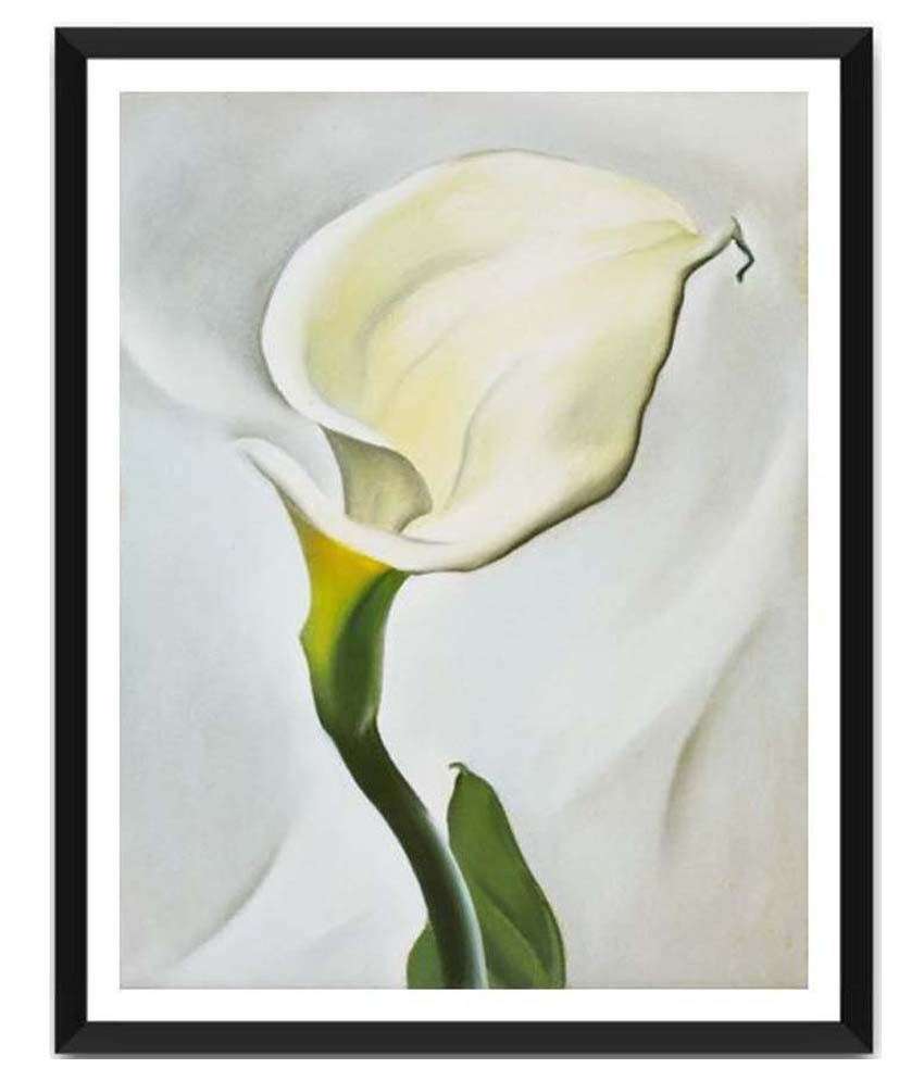 Tallenge Calla Lily Turned Away By Georgia O'Keeffe Framed Art Print
