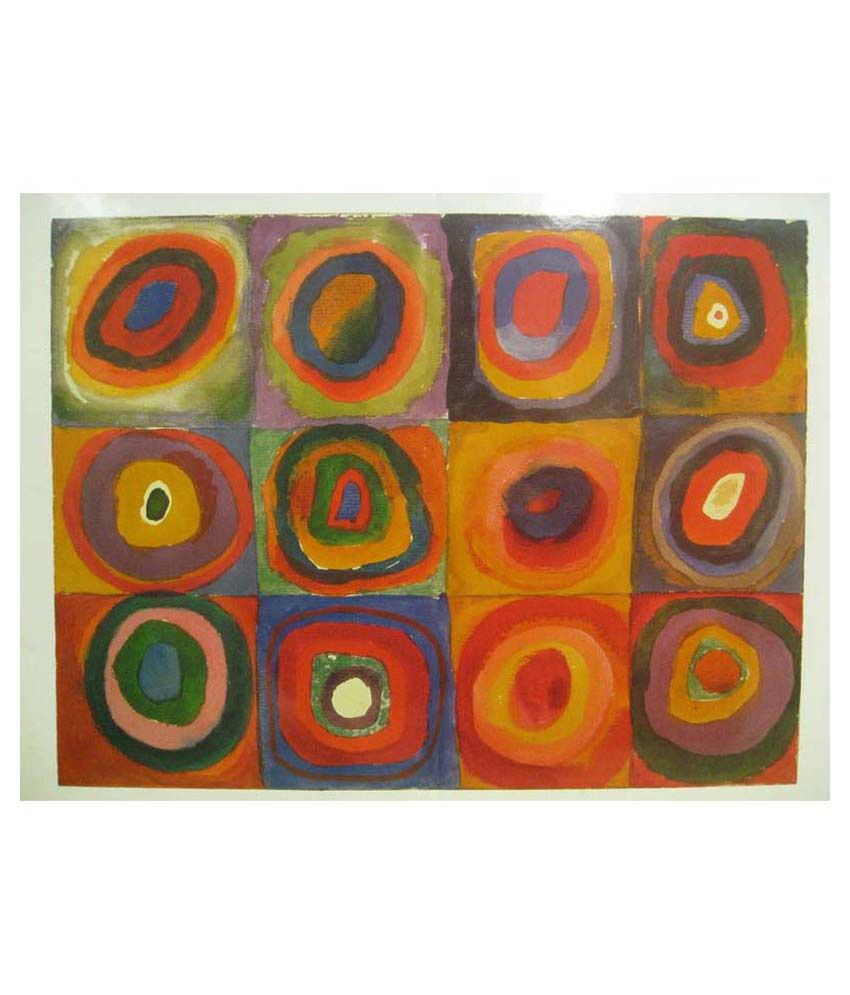Tallenge Colour Study Squares & Concentric Circle By Kandinsky Gallery Wrap Canvas Art Print