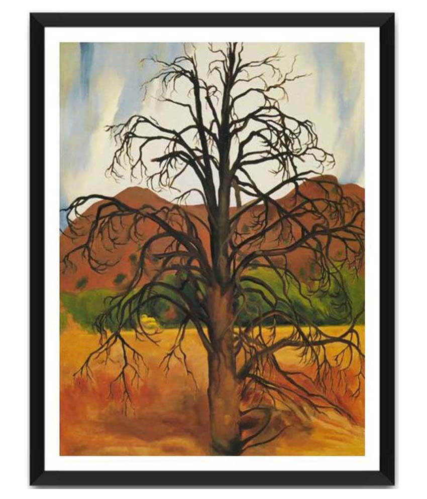 Tallenge Dead Pinon Tree By Georgia O'Keeffe Framed Art Print