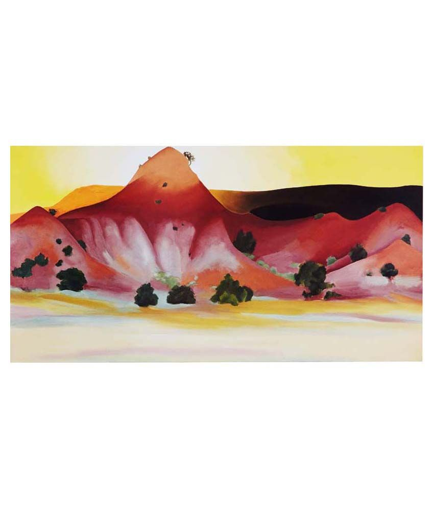 Tallenge Hills And Mesa By Georgia O'Keeffe Gallery Wrap Canvas Art Print