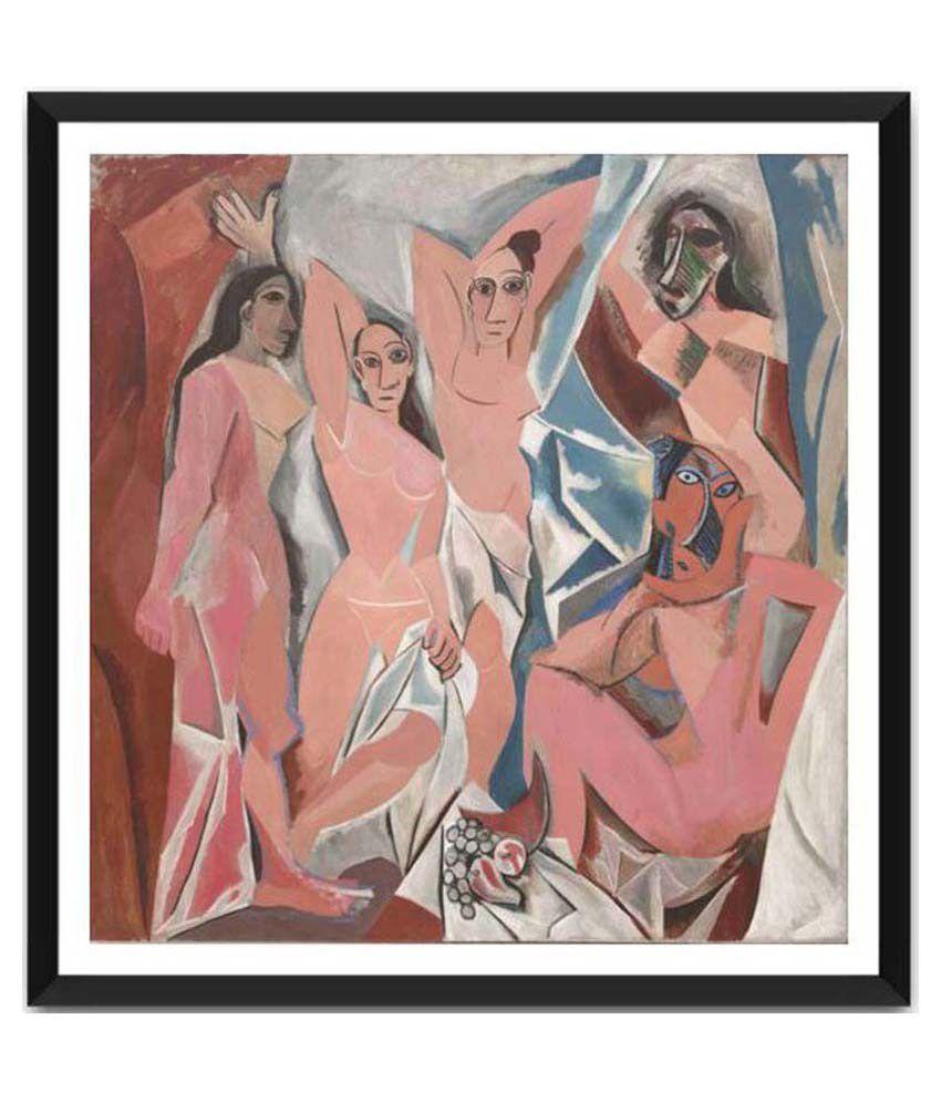 Tallenge Les Demoiselles Avignon By Pablo Picasso Framed Art Print