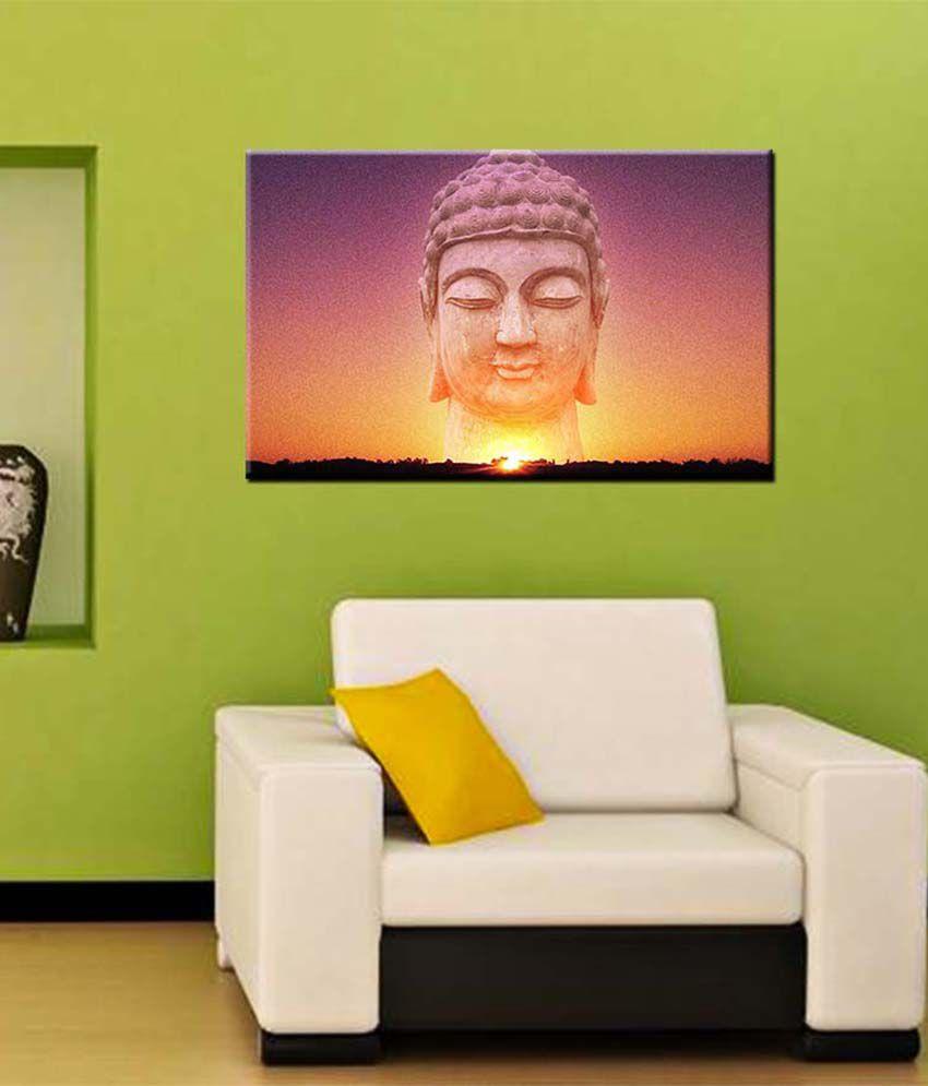 Tallenge Medium Purple Buddha & The Sky Gallery Wrap Canvas Art Print