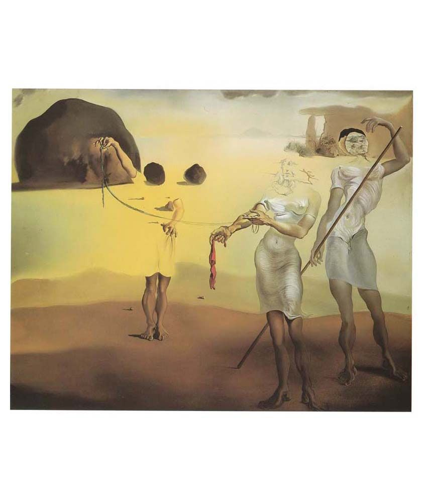 Tallenge Three Fluid Graces By Salvador Dali Gallery Wrap Canvas Art Print