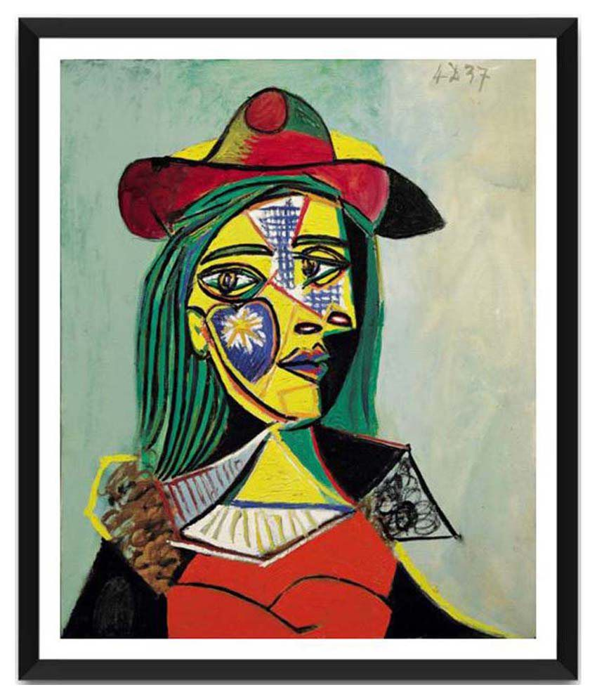 Tallenge Woman In Hat And Fur Collar (Marie Therese Walter) By Pablo Picasso Framed Art Print